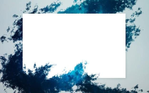 Layout criativo feito de nebulosa com nota de cartão de papel