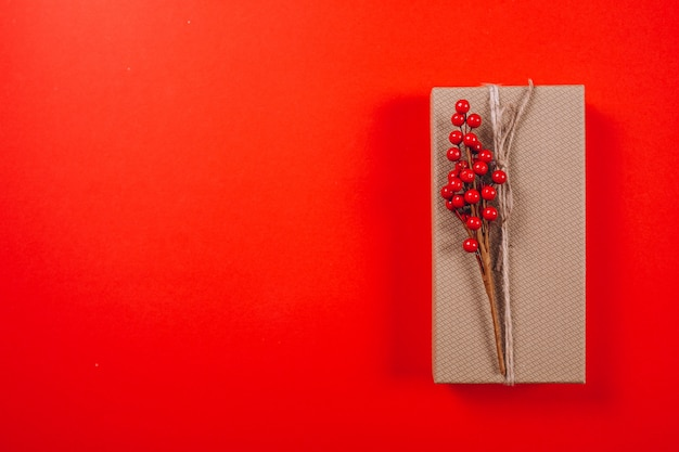 Layout de fundo de natal em fundo vermelho
