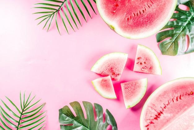 Layout de melancia criativa