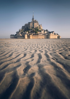 Le mont-saint-michel na normandia, frança
