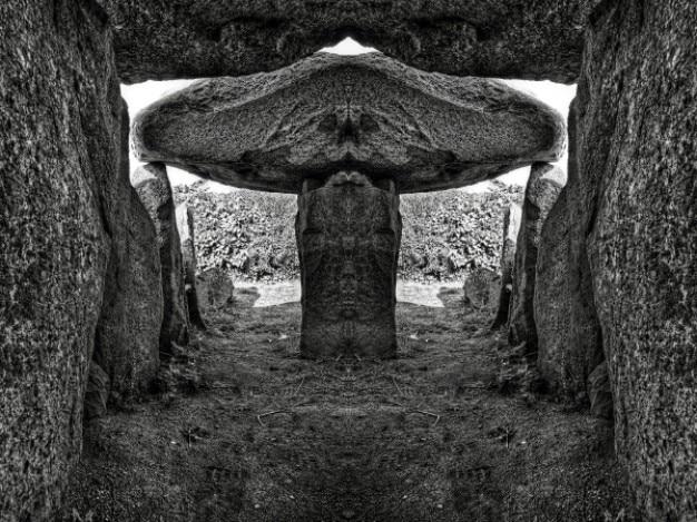 Le trepied dólmen bw hdr