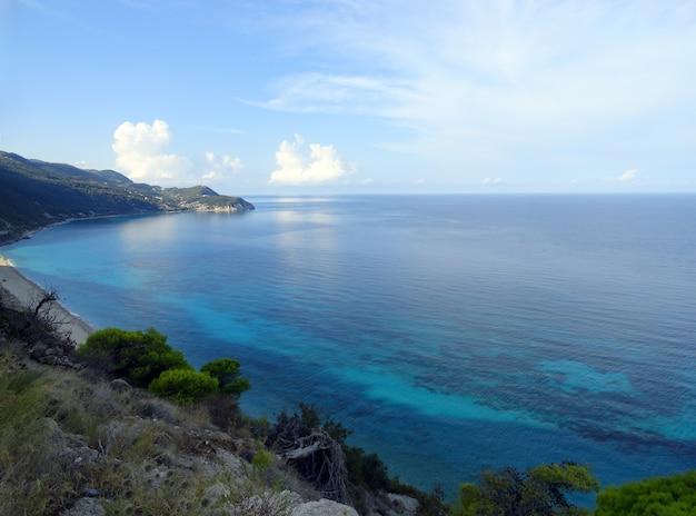 Lefkada island grécia milos praia mar paisagem