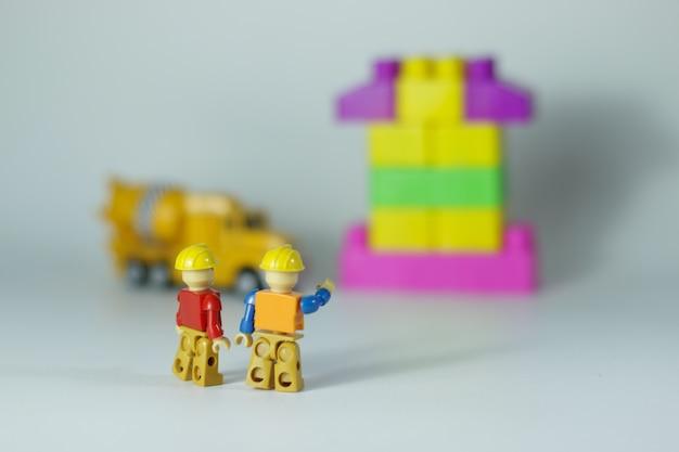 Lego diorama instruções de construção trabalhadores imobiliário