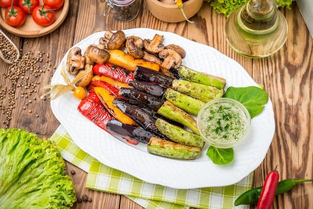 Legumes assados na grelha