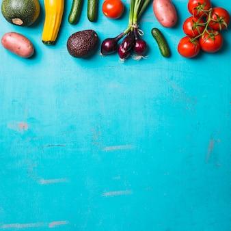 Legumes colhidos saudáveis