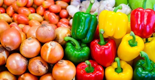 Legumes coloridos na tailândia mercado fresco