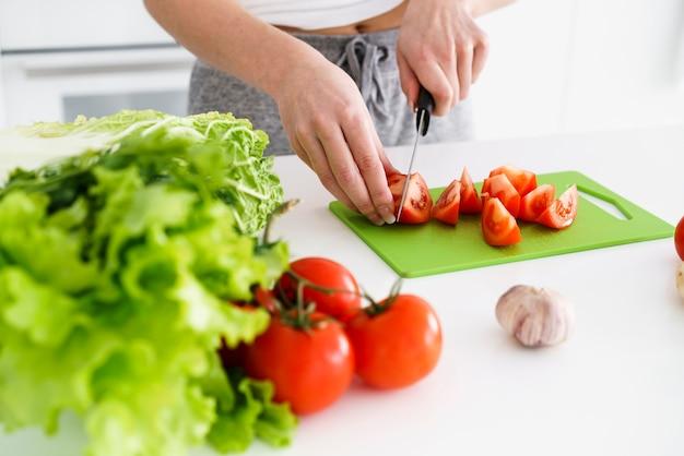 Legumes de close-up para salada