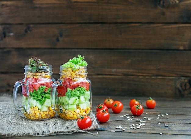 Legumes de salada úteis.
