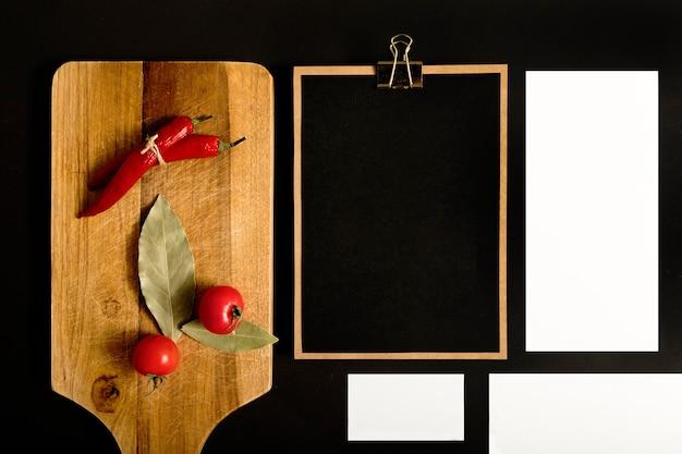 Legumes de vista superior com espaço de cópia