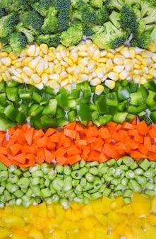 Legumes e frutas fundo alimentos saudáveis legumes misturados