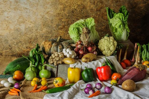 Legumes, ervas e frutas