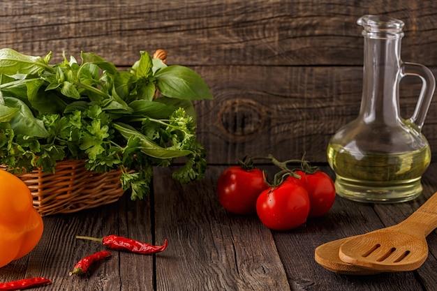 Legumes, ervas, especiarias