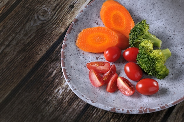 Legumes frescos e saudáveis