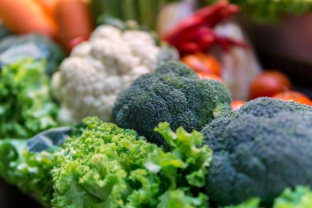 Legumes frescos. fundo de legumes coloridos.