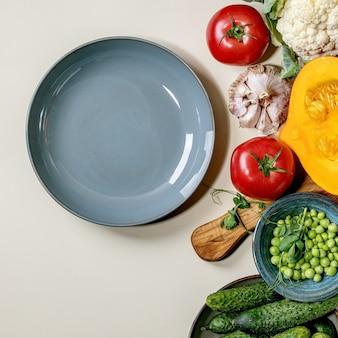 Legumes frescos para cozinhar