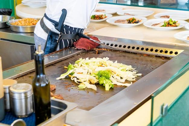 Legumes fritos na panela