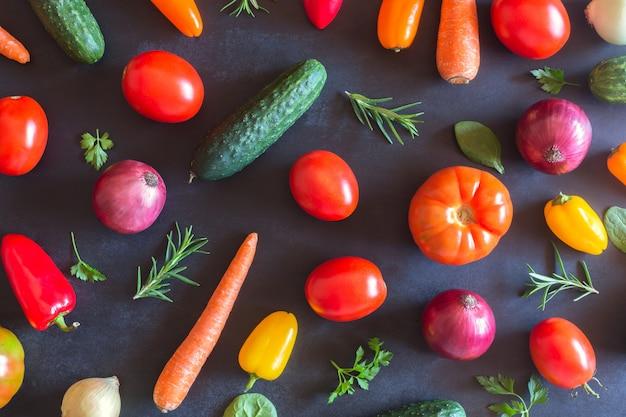 Legumes orgânicos frescos