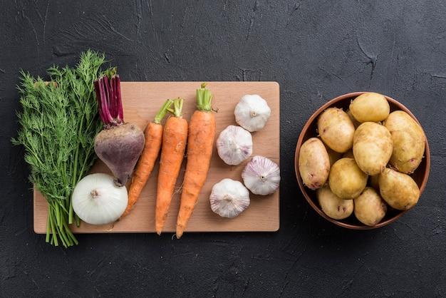 Legumes orgânicos na mesa