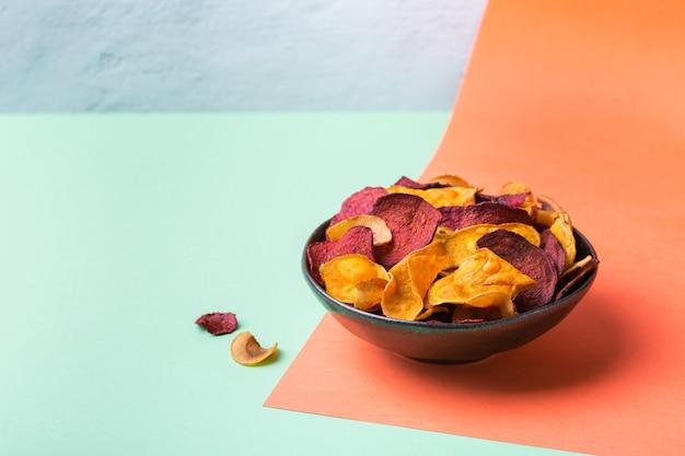 Legumes secos desidratados batata-doce pastinaca chips chips de beterraba