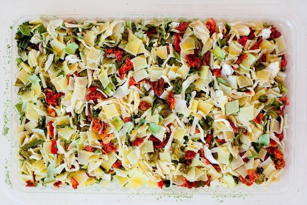 Legumes secos desidratados para sopa