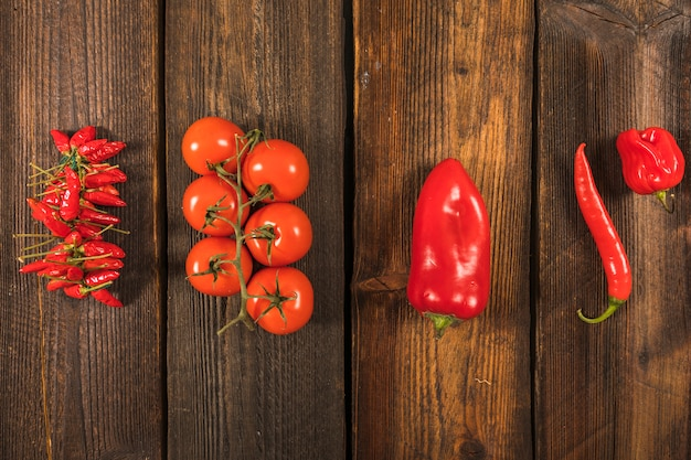 Legumes vermelhos