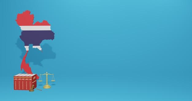 Lei da costa rica para infográficos e conteúdo de mídia social em renderização 3d