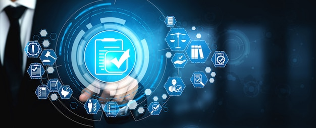 Lei da regra de conformidade e interface gráfica de regulamentação para a política de qualidade comercial