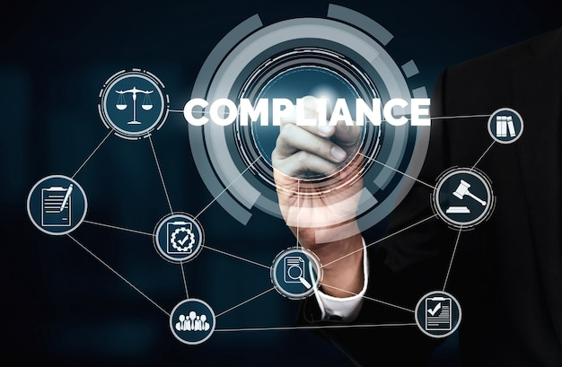 Lei de regras de conformidade e interface gráfica de regulamentação para política de qualidade de negócios