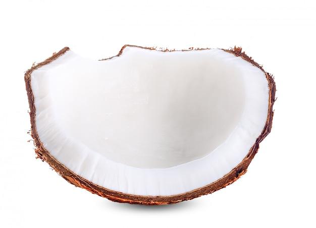 Leite de coco isolado no traçado de recorte branco