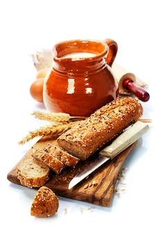 Leite e pão