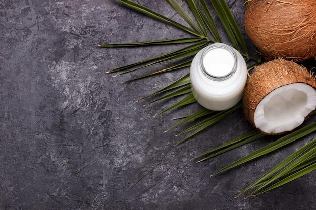 Leite vegano com coco