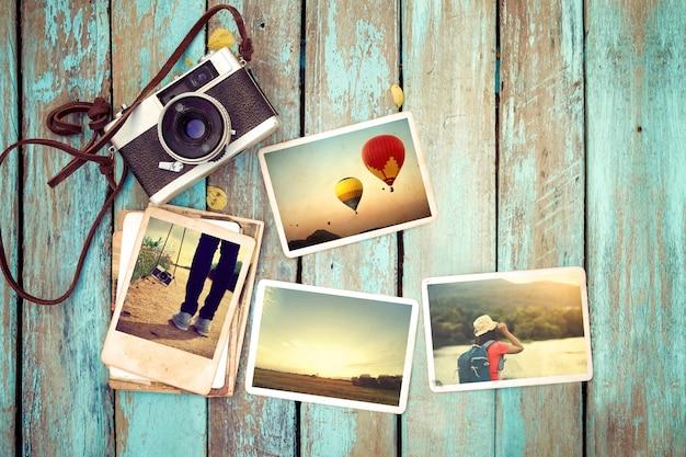 Lembrança e nostalgia em viagem de viagem de verão.