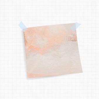 Lembrete com fundo laranja e fita adesiva washi