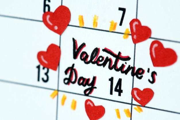 Lembrete de calendário de dia dos namorados