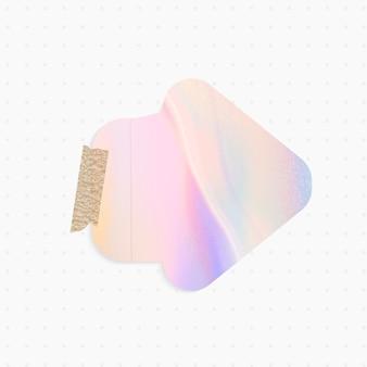 Lembrete holográfico com formato de seta e fita adesiva