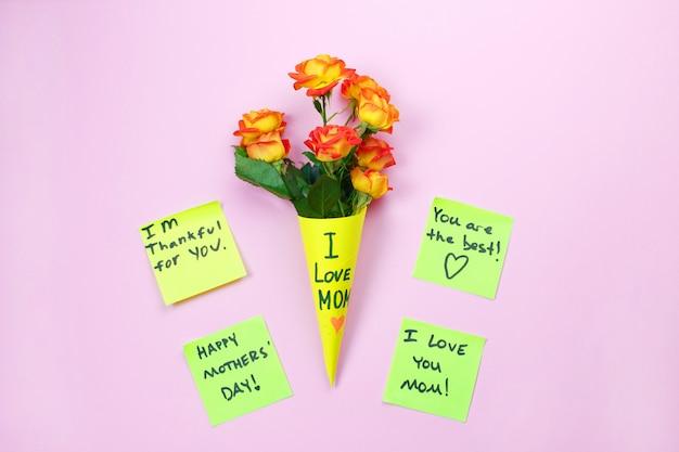 Lembrete nota feliz dia das mães