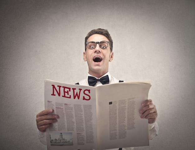 Lendo as notícias