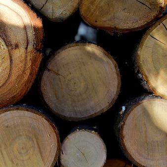 Lenha de fundo de madeira
