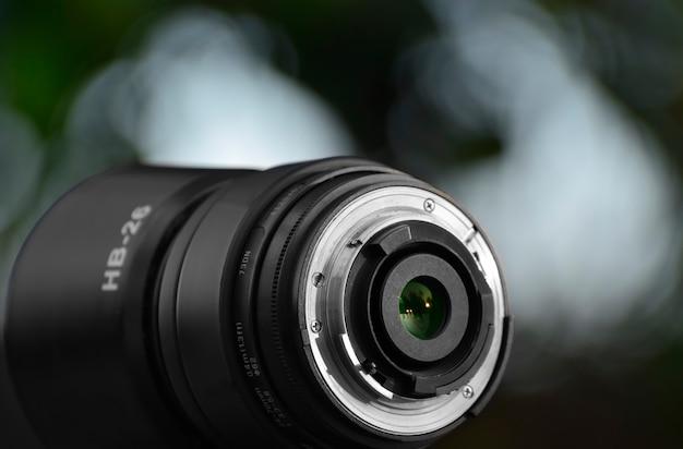 Lente da câmera digital que fornece clareza