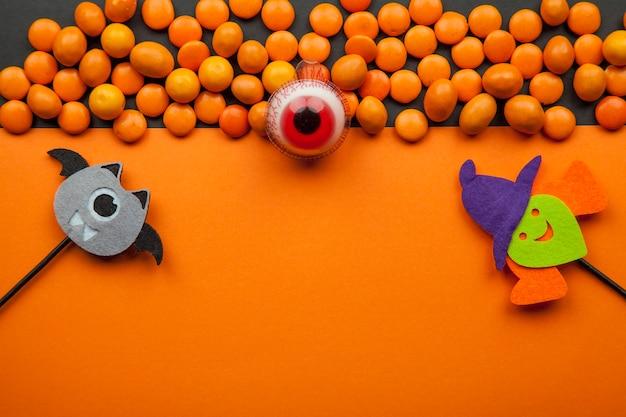 Lentilhas com decorações de halloween