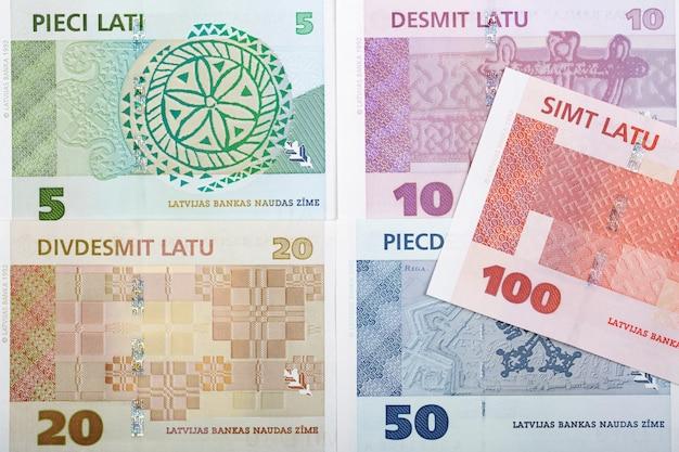 Letão lats um fundo de negócios