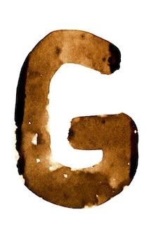 Letra g - alfabeto no café