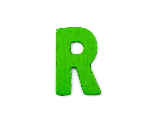 Letra r verde