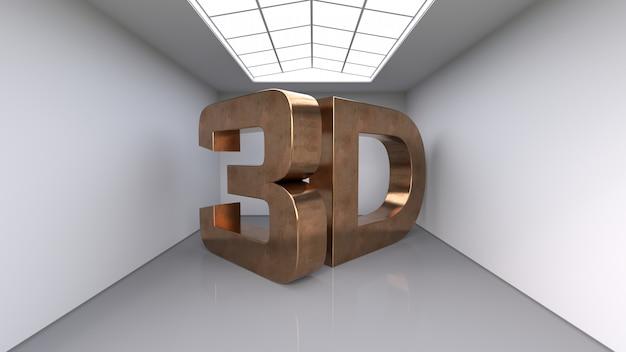Letras de cobre tridimensionais grandes