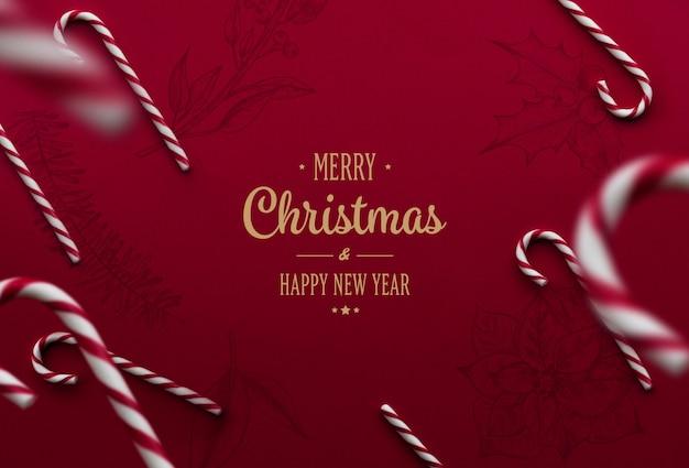 Letras de feliz natal em fundo festivo