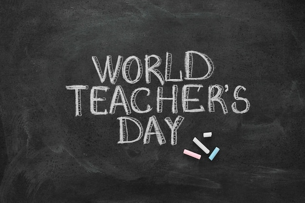 Letras de giz do conceito do dia do professor feliz