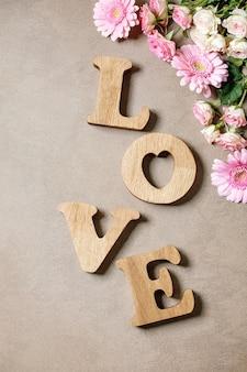 Letras de madeira amor
