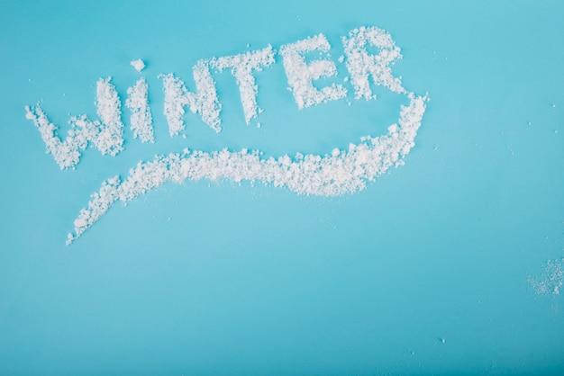 Letras de neve a bordo