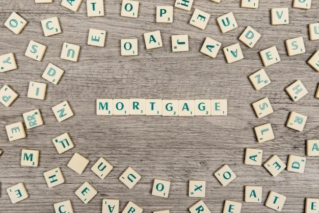 Letras formando hipoteca