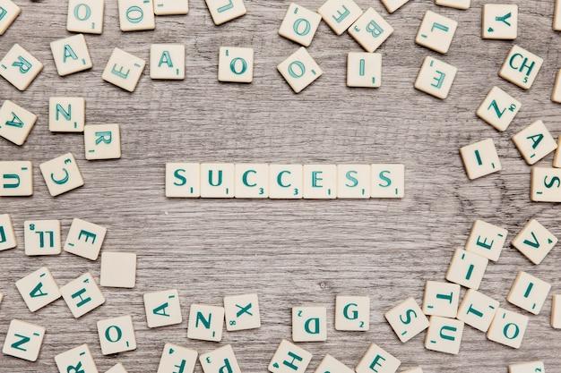 Letras formando sucesso
